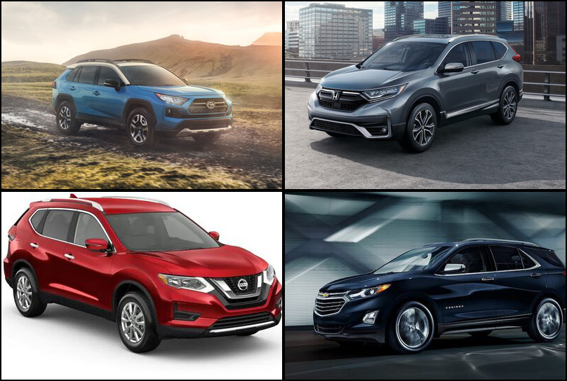 2019 2019 Best Selling Crossover/SUVS Market Share Graph