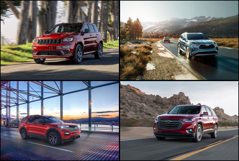 2019 2019 Best Selling Midsize Crossover/SUVs Market Share Graph