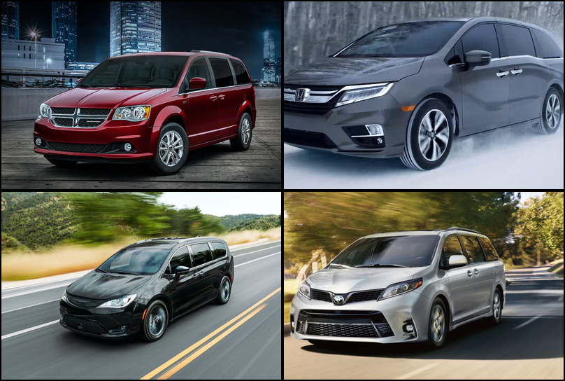 2019 2019 Best Selling Minivans Market Share Graph