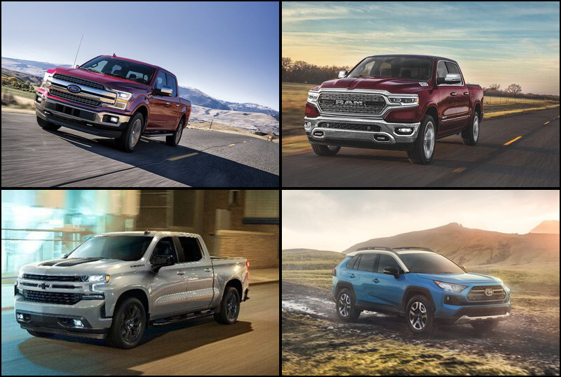 2019 2019 Best Selling Vehicles Market Share Graph